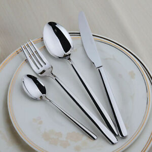 New 32 Silver Piece  Kitchen Stainless Steel Cutlery Set Tableware Dining Kit UK