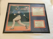 Sammy Sosa 66 Home Runs Framed Matted Picture with Stats Sept. 25, 1998