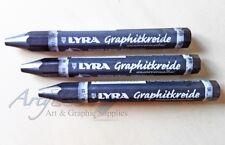 3 x Lyra Idrosolubile Grafite Pastelli/Grandi matite 2B,6B,9B 1 di ognuno