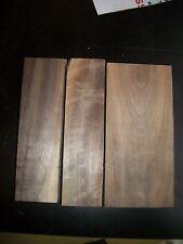 3 Pc Walnut Lumber Wood Air Dried Board Lot 1004A Carving Blocks