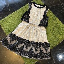 NWT $380 Karen Millen Layered Effect Lace Dress size 8UK