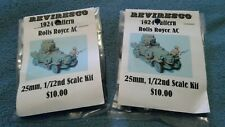 2 Reviresco 1924 Pattern Rolls Royce Armored Cars / Tank / 25mm 1/72, New in Bag