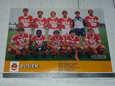 CLIPPING POSTER FOOTBALL 1984-1985 FC ROUEN ROBERT-DIOCHON DIABLES ROUGES