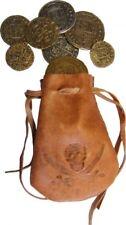 Denix Lederbeutel mit 8 Münzen Leder Beutel Pirat Schatz