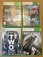 XBOX 360 ACTION GAME BUNDLE Child of Eden, Battlefield 3, Watchdogs, Army Of Two