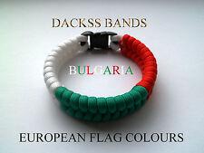 Bulgaria National Flag 550 Paracord Wristband Bracelets European Union World Cup