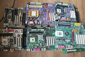 Motherboards S7, S370, S478, S775, S462, slot1 and others for spare parts