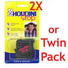 2x Houdini Stop Car Seat Safety Harness Chest Strap (twin Pack)