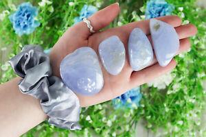 Blue Lace Agate Large Tumbled Stone
