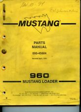 Parts Manual For Mustang 940 And Or 960 Skid Steer Loader Oem