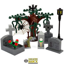 Grave Stones - Graveyard Haunted house. Halloween gravestones | All parts LEGO