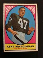 1967 Topps Kent McCloughan #112 Oakland Raiders