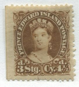 Prince Edward Island QV 1870 4 1/2d brown mint o.g. hinged