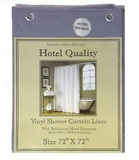 "Slate Blue Heavy Weight Hotel Quality 8-gauge Vinyl  Shower Liner: 72"" x 72"""