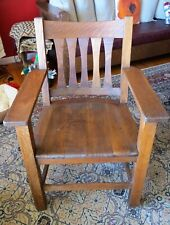 Mission Chair quartersawn oak circa 1920