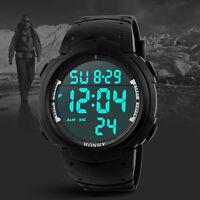 HONHX / OHSEN 47mm Men,Women Digital Alarm Date LED Sport Wristwatch Watch