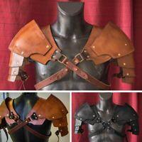 Steampunk Vintage Witcher Leather Pauldrons Medieval Viking Shoulder Armor