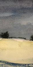 Ferdinand springer 1907-1998 grasse/aquarelle avec carte de voeux 1981/provence sign