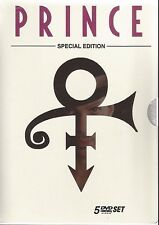 BOX PRINCE WITH 5 DVDS [BRAZILIAN EDITION] CONCERTS, VIDEOS AND PURPLE RAIN