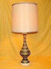 "Vintage Lamp Pottery Art Creative Corp Quartite Mosaic 1959 Matching Shade 34.5"""