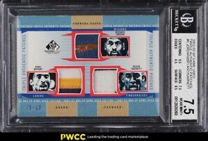 2002 SP Game Used Triple Michael Jordan Kobe Bryant Garnett PATCH /10 BGS 7.5