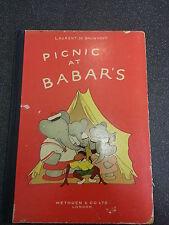 PICNIC AT BABAR'S by LAURENT DE BRUNHOFF ** METHUEN & Co 1950 HARDBACK **