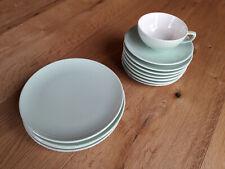 12 Teile - Melitta - 50er/60er Jahre - Tasse, Teller - grün
