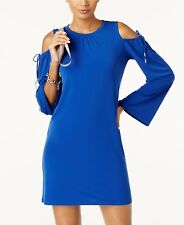 MICHAEL Michael Kors  Cold Shoulder Dress L Bright Royal