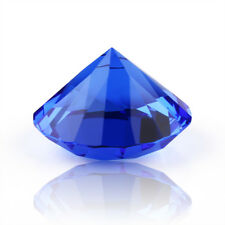 40mm Blue Crystal Diamond Shape Paperweight Glass Gem Display Gift Ornament