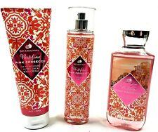 Bath and Body Works Portofino Pink Prosecco 3 SET Body Cream/Mist/Body Wash