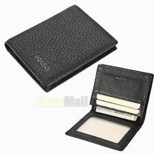New Men's Slim Genuine Leather Bifold ID Credit Card Money Holder Wallet Black