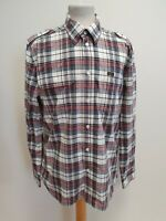 I59 MENS LEE BLUE RED WHITE CHECK L/SLEEVE COTTON SHIRT UK L EU 52