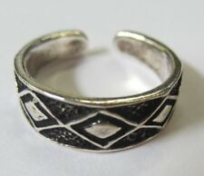 Sterling Silver Adjustable Toe Ring Solid 925 Oxidized Jewelry