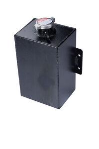 Universal Aluminum Coolant Expansion Overflow Header Tank Bottle Cap Black