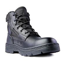 Ridge calçado 4205 Dura-Max Mid-Zíper Botas Táticas De Couro Preto 6 Polegadas