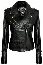 Killstar Co. Black Vegan Leather Jacket NEW Moto Style XL Biker Faux Goth Punk