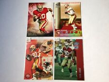 Jerry Rice Topps/Pacific/Playoff/Fleer 4 Cards #524/21/267/168 San Francisco 49
