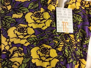 Lularoe TC Tall & Curvy Leggings Unicorn Purple Yellow Roses Disney Floral B&B *