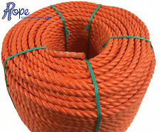 14mm x 20 mts Orange Poly Rope Coils, Polyrope,Polypropylene,Agriculture,Camping