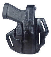 Tactical Scorpion Gear 3 Slot Thumb Break Leather Holster: Fits Glock 48