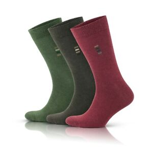 Mens Cotton Socks quality 6 pairs business, casual green red brown size 6-8 9-11