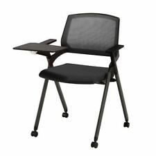 CLATINA Reception Stacking Chair Mesh Guest Nesting with Tablet and Caster Wheel