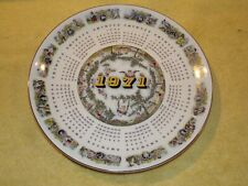 Vintage 1971 Astrological Signs Calendar Plate, Wedgwood