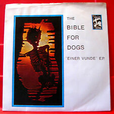 "The Bible For Dogs Einer Vunde 7""EP PC+FLEXI '87 Timebox Post-Punk/Minimal VINYL"