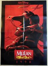 Walt Disney MULAN original vintage 1 sheet movie teaser poster 1998