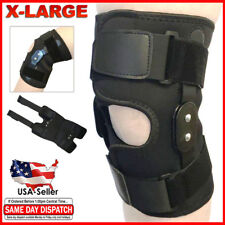 FDA Approved Adjustable Hinged Knee Brace Patella Compression Support Relief XL