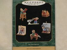 1997 Hallmark Keepsake Miniature Ornament Tiny Home Improvers Set of 6
