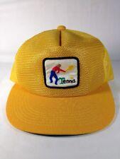 Tennis Mesh Trucker Hat Cap Hipster Yellow Patch Snapback