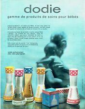 Publicité Advertising 079  1963   Dodie  produits soins bébé  tétine eau toilett
