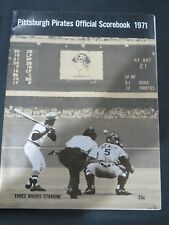 1971 Pittsburgh Pirates Official Baseball Scorebook vs Chicago Cubs